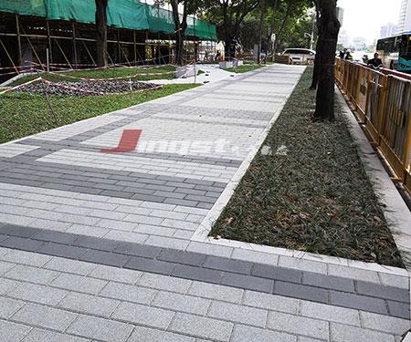 仿石透水砖人行道